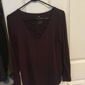 "American Eagle ""Soft & Sexy"" Long-Sleeve T"